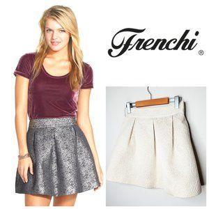 FRENCHI Cotton Champagne Gold Mini Skirt